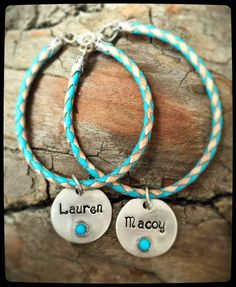 Turquoise Disk Bracelet - Personalize it!