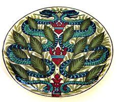 William De Morgan - Snake and Crowned Heart Dish http://www.demorgan.org.uk/