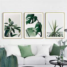 Zestaw plakatów botanicznych Plakaty z liśćmi Liście | Etsy Nursery Wall Decor, Room Decor, Leaf Photography, Botanical Wall Art, Tropical Leaves, Wall Art Prints, Gallery Wall, Etsy Shop, Studio
