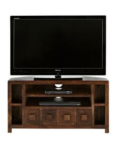 Dakota Ready Assembled Corner Tv Unit - Fits Up To 44 Inch Tv