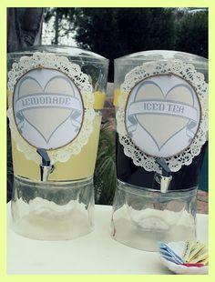 Vintage Grey & Yellow Bridal Shower | | Kara's Party IdeasKara's Party Ideas