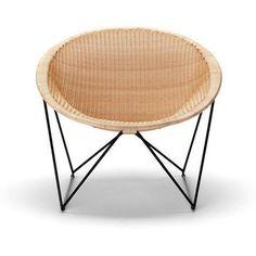 Sled base rattan easy chair By Feelgood Designs design Yuzuru Yamakawa Timber Furniture, Lounge Furniture, Furniture Decor, Furniture Design, Lounge Chairs, Bar Lounge, Outdoor Furniture, Rattan, Furniture Collection