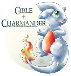 Gible x Charmander by Seoxys6.deviantart.com on @DeviantArt