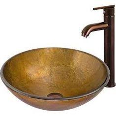 For Small Guest Bath -     ....Vigo VGT130 Atlantis Glass Vessel Sink and Faucet Set, Oil Rubbed Bronze