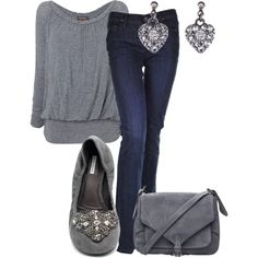 """grey casual"" by kswirsding on Polyvore"