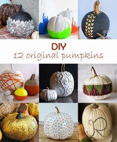 DIY Pumpkins tutorials #roundup #halloween