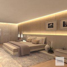 Quarto aconchegante em tons de bege e iluminação indireta  Cozy bedroom in beiges and indirect light #dicasfernandamarques #fernandamarquestips #bedroom #bed#quarto#quartodecasal#masterbedroom #cozy#decor #decoracao #decoracaoetododia #decoracaodeinteriores #interiors #interiordesign #design #fernandamarques #fernandamarquesarquiteta