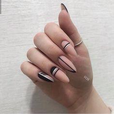 Geometric Nail, Nail Polish Art, Oval Nails, Dream Nails, Stylish Nails, Nail Art Hacks, Holiday Nails, Blue Nails, Nail Manicure