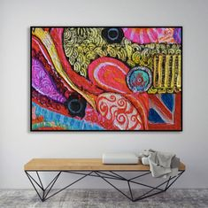 COECLECTIC - Large hand painted artwork on canvas - Carnaby II