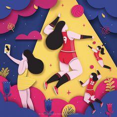 """다음 @Behance 프로젝트 확인: """"The Chinese Women's Volleyball Team"""" https://www.behance.net/gallery/41991563/The-Chinese-Womens-Volleyball-Team"""