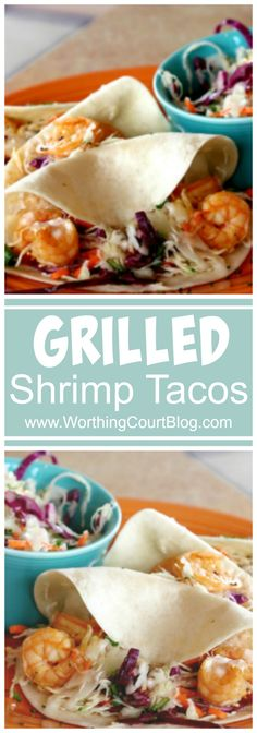 An easy, tasty and versatile recipe for grilled shrimp tacos