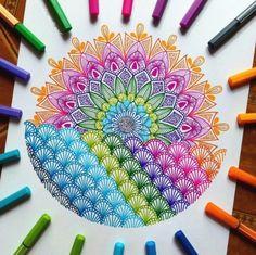 Image may contain: drawing Flower Art Drawing, Doodle Art Drawing, Zentangle Drawings, Mandala Drawing, Cool Art Drawings, Flower Drawings, Mandala Doodle, Mandala Art Lesson, Mandala Artwork