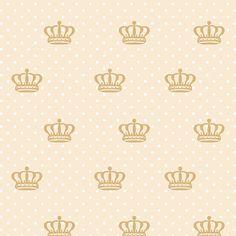 Papel de Parede Coroas em Bege e Bolinhas Brancas Sobre Fundo Nude - Papel de Parede Digital Scrapbook Albums, Scrapbook Paper, Scrapbooking, Wallpaper Backgrounds, Iphone Wallpaper, Wallpapers, Modern Headboard, Shabby Chic Pink, Background Patterns