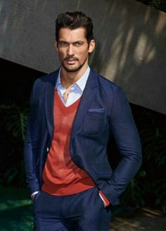 Men's casual suit | David Gandy  for selected Summer 2014