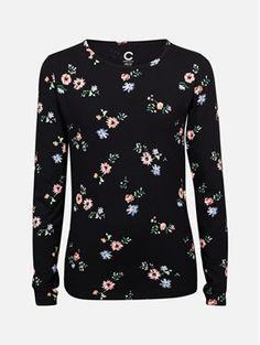 Svart - Ricky Raglan langermet t-sjorte Barn, Pullover, Blouse, Long Sleeve, Sleeves, Sweaters, Tops, Women, Fashion