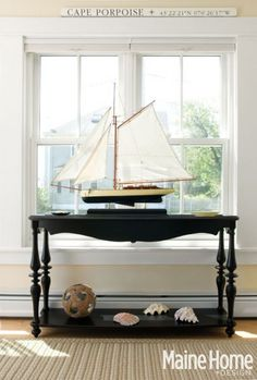 Gotta find a place to display my sailboat collection. The nautical den or the front entry?