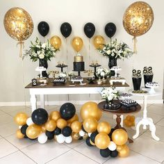 Super birthday decorations for men party decor 50 Ideas 50th Birthday Celebration Ideas, 70th Birthday Parties, Adult Birthday Party, Grad Parties, Graduation Decorations, Birthday Decorations, Birthday Party Decorations For Adults, Deco Candy Bar, Birthday Balloons