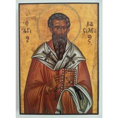 Saint Basil, Christian Icon by Nelly Jordanova St Basil's, Most Famous Paintings, Russian Icons, Orthodox Christianity, Orthodox Icons, Old Art, Handmade Wooden, Decoupage, Saints