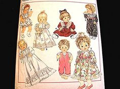 Baby Doll Clothes Pattern Simplicity size 12 14 16 18 20 22 inch Dolls UNCUT Doll Sewing Pattern View on Etsy by PatternsFromThePast