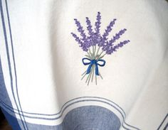 Bouquet of Fragrant Lavender Embroidered Tea Towel (Inspiration)