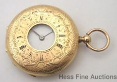 Genuine Vacheron Civil War Era 18k Gold Keywind Demi Hunter Running Pocket Watch #Vacheron