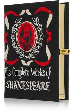 OLYMPIA LE-TAN  The Complete Works of Shakespeare embroidered clutch  $1,520