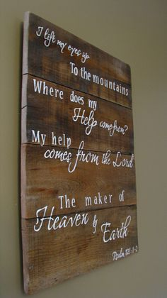 Hand painted Wooden sign with scripture Psalm by WordsofPurpose, $55.00