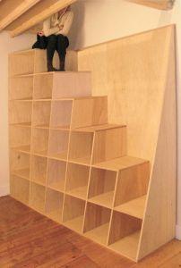 Escalier/Echelle espace restreint pour mezzanine