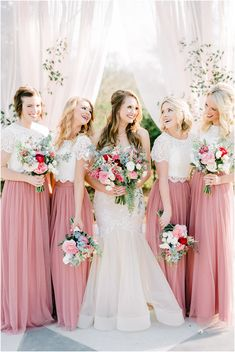 Travis & Presley | Texas Wedding & Portrait Photographer Two Piece Bridesmaid Dresses, Bridesmaid Separates, Wedding Bridesmaid Dresses, Bridal Dresses, Wedding Frocks, Wedding Gowns, Wedding Beauty, Dream Wedding, Wedding Colors