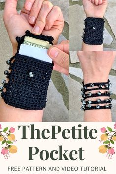 This is my most popular item for my Spring and Summer vendor markets! People go nuts over how convenient they are. They are perfect for going to festivals, concerts, raves, markets and the beach! They look like an adorable bracelet on one side and the pocket is the perfect size for a card and some money. #crochetwristwallet #wristwallet #bestseller #vendormarketprep #functionalcrochet Bead Crochet, Free Crochet, Crochet Designs, Crochet Patterns, Crochet Purses, Crochet Bags, Modern Crochet, Cute Bracelets, Tote Pattern