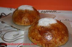 Tipico en la CValenciana para acompañar con  chocolate en Pascua. Llamada Toña, Pan Quemao, Mona o Fogassete