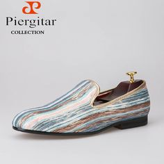 Piergitar New Fashion Mixed colors Men s casual shoes Men Smoking Slippers Plus  Size Loafers Men Flats Size US 6-14 Freeshipping babe874ab5a6