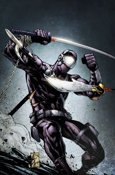 Snake Eyes Cover B Another of the variant covers for Snake Eyes, this one for issue Pencils and inks by Agustin Padilla. SnakeEyes 4 Cover B Comic Movies, Comic Book Characters, Comic Books, Snake Eyes Gi Joe, Arte Ninja, Samurai, Vigilante, Storm Shadow, Gi Joe Cobra