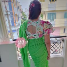 Beautiful Back Neck Design with Inspiration! Tag your picture to get featured on this page . Best Blouse Designs, Saree Blouse Designs, Blouse Patterns, Long Gown Dress, Back Neck Designs, High Waisted Skirt, Ruffle Blouse, Gowns, Womens Fashion