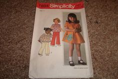 vintage sewing pattern simplicity 7604 childrens by robinsvintage, $3.00