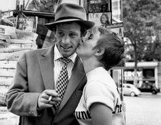 "Jean-Paul Belmondo and Jean Seberg at Hotel de Suède to film Godard's ""À Bout de Souffle,"" Paris, 1959.  The Photographs That Helped ""Breathless"" Start a Revolution - The New Yorker"