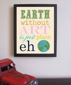 Children Decor  Earth Print  Nursery Art 8 x by FitToPrintDesigns, $14.00