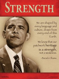 President Barack Obama 2012 Campaign Poster - Strength from Heritage Quote from his Inspirational & Motivational Speeches. x Print. Black Presidents, Greatest Presidents, American Presidents, American History, First Black President, Mr President, Michelle Obama, Joe Biden, Presidente Obama