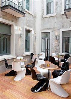 Hotel DeBrett, Auckland, New Zealand Beach Hotels, Hotels And Resorts, Auckland, New Zealand Beach, Panton Chair, Frameless Shower Doors, Bar Interior, Danish Design, Scandinavian Design