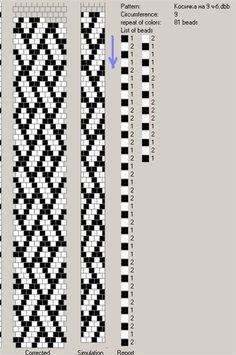 Pulsera con cuentas de patrón de triángulo con cierre