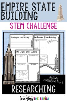 If you are looking for fun and engaging STEM ideas for your upper elementary or middle school students? This Empire State Building STEM Challenge is perfect. The Empire State Building STEM Challenge will engage your students as they learn about World Famous landmarks. Students will construct a models of The Empire State Building after they research the history of the Empire State Building.