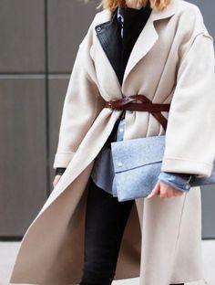 #street #style / cream trench coat