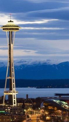 "Seattle Washington, space needle.  It's not part of ""my house"", but I desperately need to live in the north west."