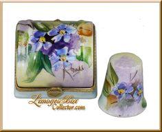 Цветочные наперсток Комод с наперсток Лимож Box - Пенсионер