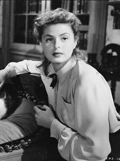 "Ingrid Bergman plays a psychiatrist in ""Spellbound""."