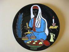 Keramik Wandteller German Pottery 50er 60er Wall Plate 31 cm