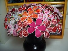 Wire-Edged Fabric Flowers