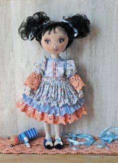 Textile doll OOAK/ handmade Interior doll/ Cute doll. by EvaiDolls