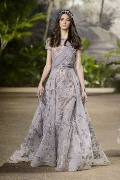Pin for Later: Elie Saab's Couture Collection Is Full of Dreamy Dresses and Sparkling Pants — Yes, Pants