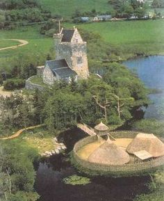 Craggaunowen Castle - fortified tower house located near Sixmilebridge, County Clare, Ireland